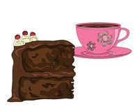 Cake and coffee Royalty Free Stock Photography