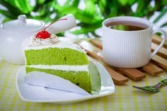 Cake and coffee. A piece of cake and coffee royalty free stock image