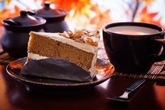 Cake and coffee. A piece of cake and coffee stock images