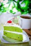 Cake and coffee. A piece of cake and coffee stock photography