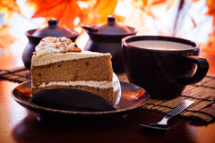 Cake and coffee Stock Photography
