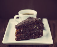 Cake and coffee Royalty Free Stock Photos