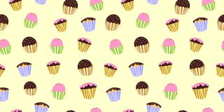 Cake Color Fun Seamless Pattern vector on soft background. Illustrator Eps. 10 vector illustration