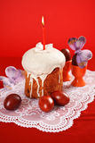 Cake and colored Royalty Free Stock Image