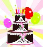 Cake on a colorful background Royalty Free Stock Photo