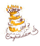 Cake with congratulations Royalty Free Stock Photos