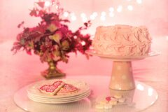 Cake and cookies Royalty Free Stock Images
