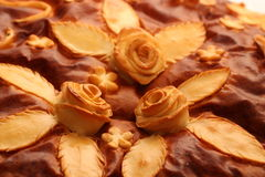 A cake. Cookies in the shape of roses Royalty Free Stock Photo