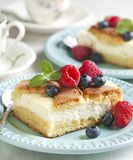 Cake with cottage cheese Stock Photo
