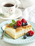 Cake with cottage cheese Royalty Free Stock Photos