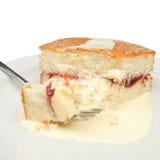 Cake and cream Royalty Free Stock Photo