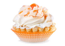 Cake with cream Stock Images