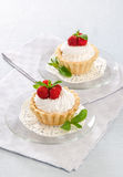 Cake with cream Royalty Free Stock Images