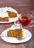 Cake with cream cheese topping Royalty Free Stock Photo