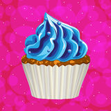Cake with cream on a colorful background. Vector. Royalty Free Stock Image