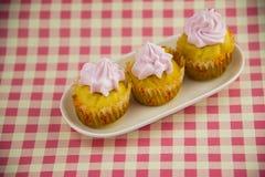 Cake, cream  flower Stock Image