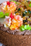 Cake  with cream roses Stock Image