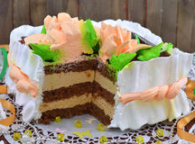 Creamy cake Royalty Free Stock Images