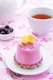 Cake with a creamy mousse and stuffed berry mousse Stock Photo