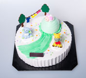Cake or Creative animals cake on a background. Stock Photos