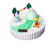 Cake or Creative animals cake on a background. Stock Image