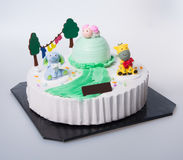 Cake or Creative animals cake on a background. Royalty Free Stock Image