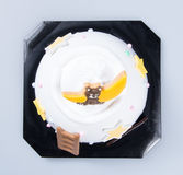 Cake or Creative animals cake on a background. Royalty Free Stock Images