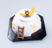 cake or Creative animals cake on a background. Stock Photos