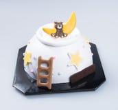 cake or Creative animals cake on a background. Stock Photo