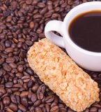 Cake and cup of coffee Stock Images