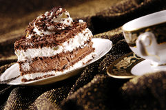 Cake with cup of coffee Royalty Free Stock Photography