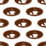 Cake and cup pattern Stock Image