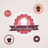 Cake  & Cupcakes icons Stock Photo