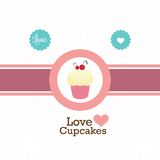 Cake  & Cupcakes icons Royalty Free Stock Photography