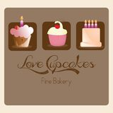 Cake  & Cupcakes icons Stock Images