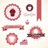 Cake  & Cupcakes icons Royalty Free Stock Image