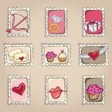 Cake  & Cupcakes icons Royalty Free Stock Photo