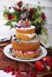 Cake, cupcakes, sweetness and flowers Stock Photo