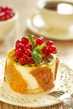 Cake with currants, passion fruit and sesame Stock Image