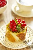 Cake with currants, passion fruit and sesame Royalty Free Stock Images