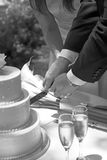 Cake cutting Stock Photo
