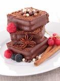 Cake/czekoladowy deser obrazy stock