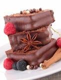 Cake/czekoladowy deser zdjęcia stock
