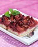 Cake with damson plums (Prunus insititia) Stock Image