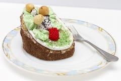 Cake in de bosstijl Stock Afbeelding