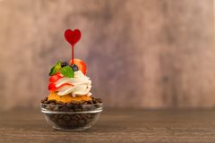 Cake decorated with a berry Royalty Free Stock Image