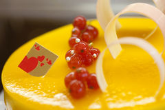 Cake decorated with different of fruit Royalty Free Stock Image