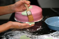 Cake Decorating Royalty Free Stock Photography