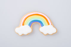 Cake decoration or cake decoration rainbow on a background. Royalty Free Stock Images