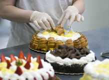 Cake decoration Stock Image